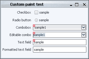 Validation overlay, paint()