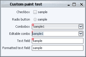 Validation overlay, paint() without repaint manager