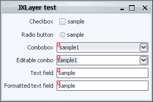 Validation overlay, JXLayer