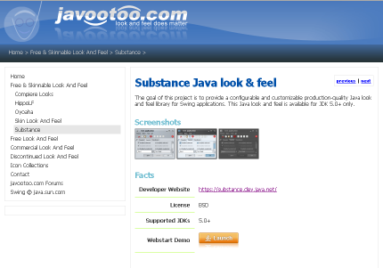 Javootoo Substance section