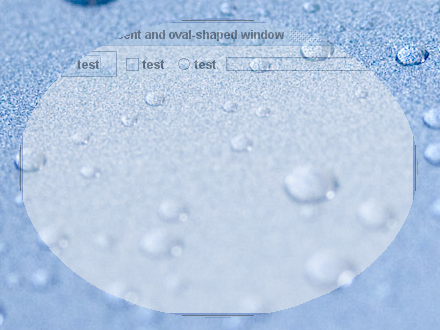 Translucent shaped window screenshot