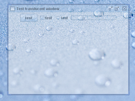 Translucent window screenshot
