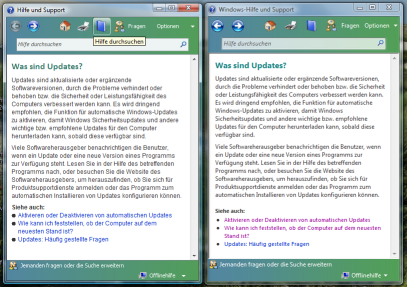 Vista Help side-by-side