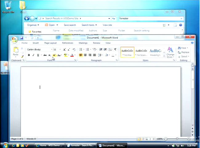 7 for Windows 7 bureau vide