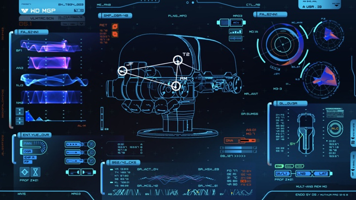 sci fi computer display medical lab screen graphics